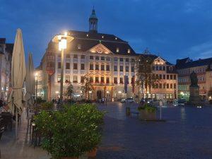das Rathaus von Coburg in Franken.