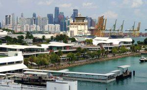Skyline von Singapur, Südostasien