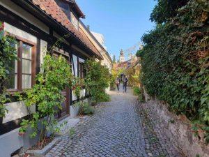 Straße in Visby auf der Insel Gotland