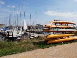 der Hafen von Lauterbach auf Rügen