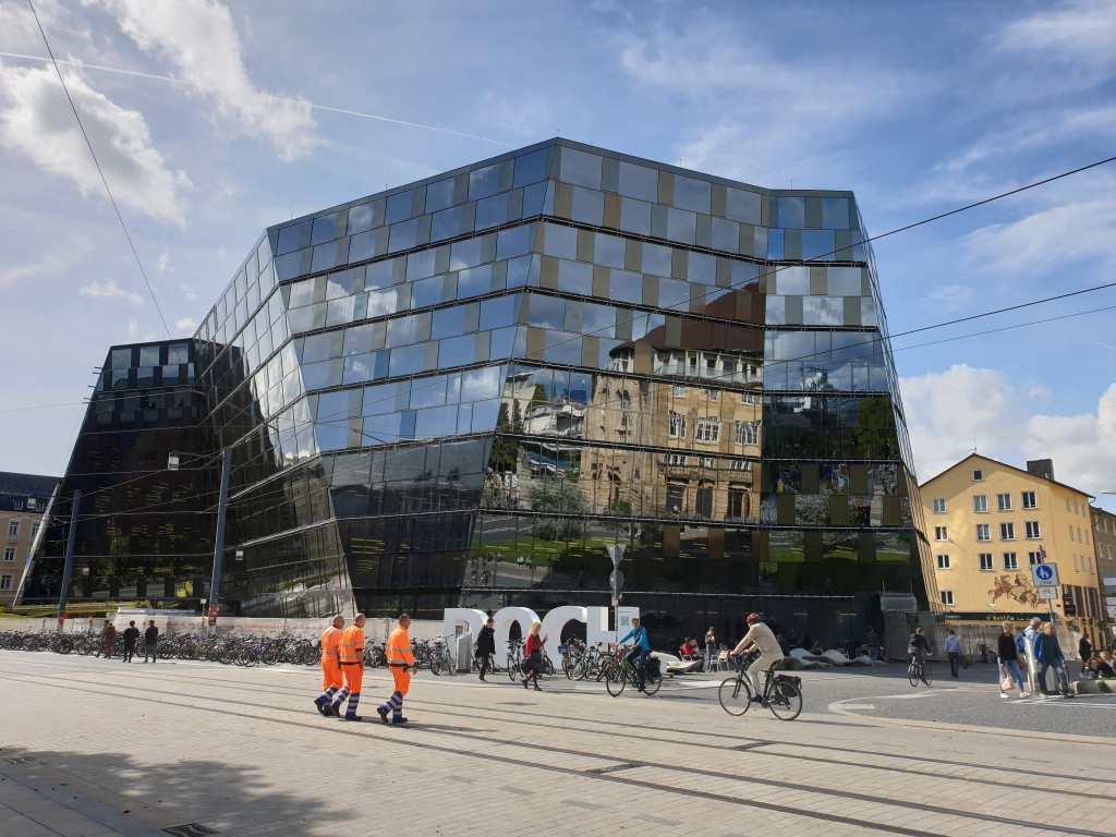 die neue Bibliothek in Freiburg