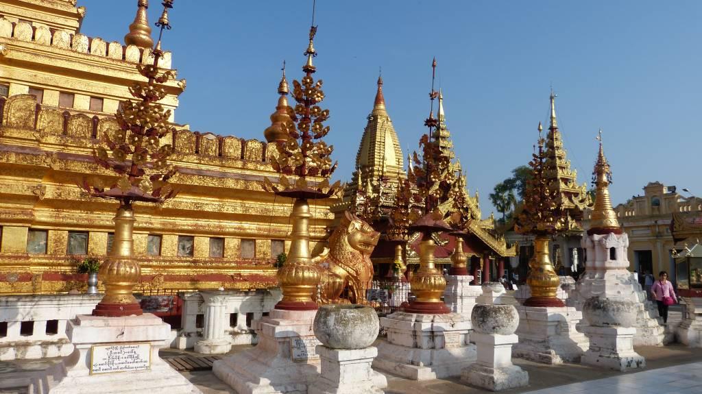 ... einer der vielen Tempel in Myanmar