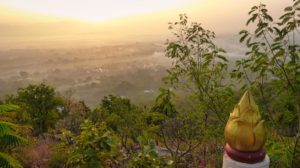Blick vom Mandalay Hill in Myanmar