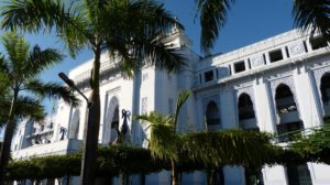 Koloniale Architektur in Yangon in Myanmar