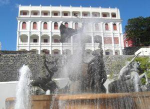 Brunnen in San Juan, die Hauptstadt der Karibikinsel Puerto Rico