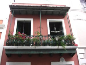 Häuser in San Juan, der kolonialen Perle der Insel Puerto Rico