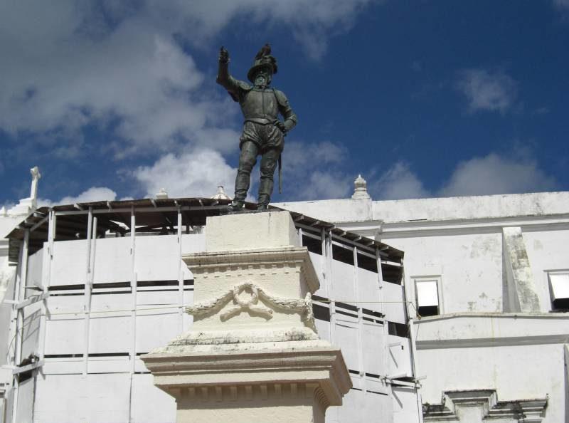das Denkmal von Ponce de León in San Juan, der Hauptstadt der Karibikinsel Puerto Rico