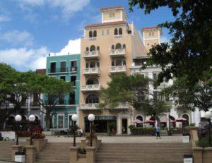 Häuserzeile in San Juan, der Hauptstadt der Karibikinsel Puerto Rico