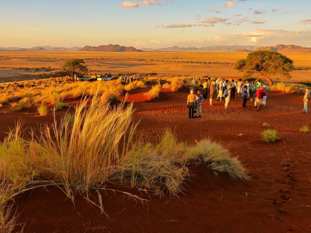 Abendstimmung in der Namib in Namibia
