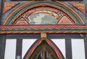 Fachwerkhaus in Einbeck im Süden Niedersachsens.