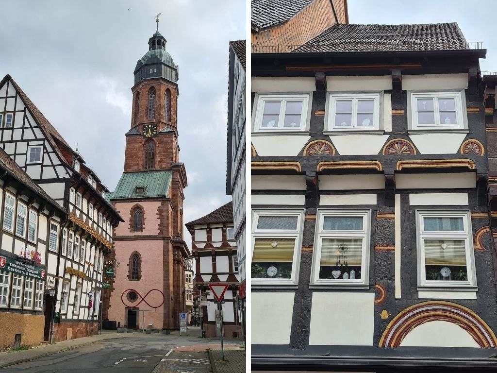 Marktkirche St. Jacobi in der Fachwerkstadt Einbeck im Süden von Niedersachsen
