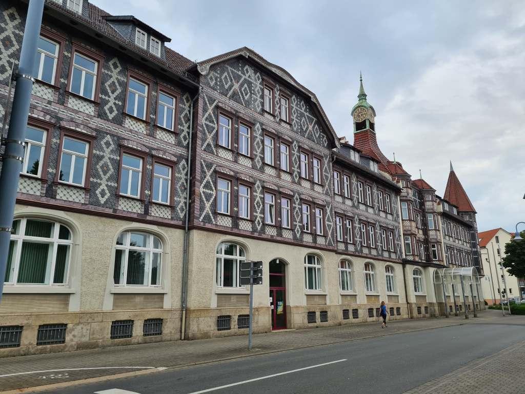 das Neue Rathaus der Fachwerkstadt Einbeck im Süden Niedersachsens.
