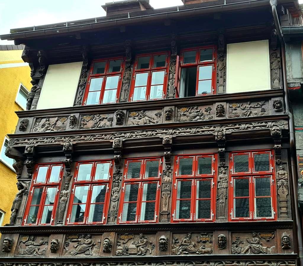 das Eickesche Haus in der Fachwerkstadt Einbeck im Süden Niedersachsens.